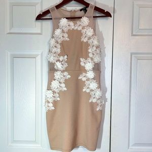 Forever 21-Blush Pink Dress W/White Flowers Size,S
